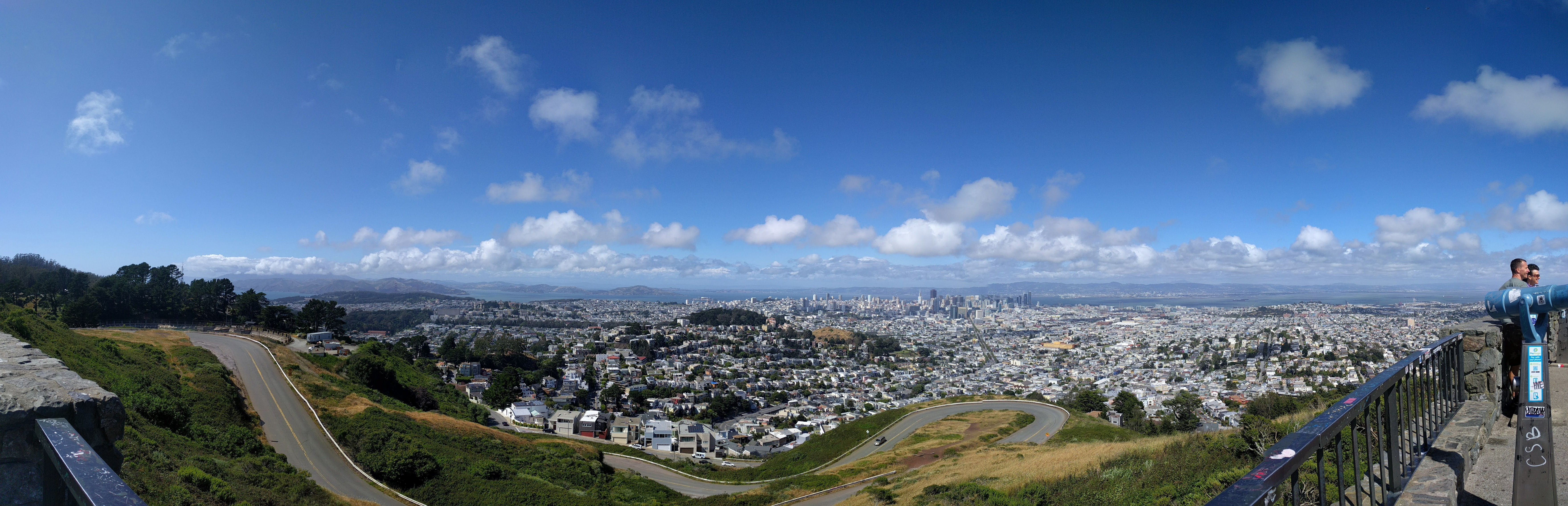 Stitched view from Twin Peaks. The real one, not the TV fiction one.